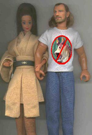 Unlikely Universe News: Jedi Master Tara-Lin, shown here with unnamed 'friend'...