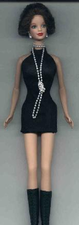 The Classic Black Cocktail Dress with Pearls