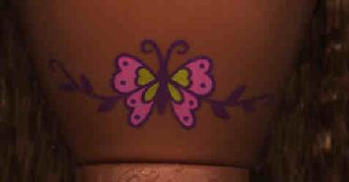 Barbie's Stomach Tattoo